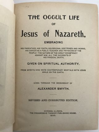 THE OCCULT LIFE OF JESUS OF NAZARETH...